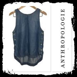 Anthropologie Cloth and Stone Chambray Tank